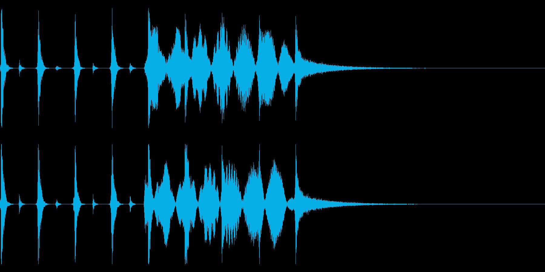 時計の秒針/シンキングタイム効果音!02の再生済みの波形