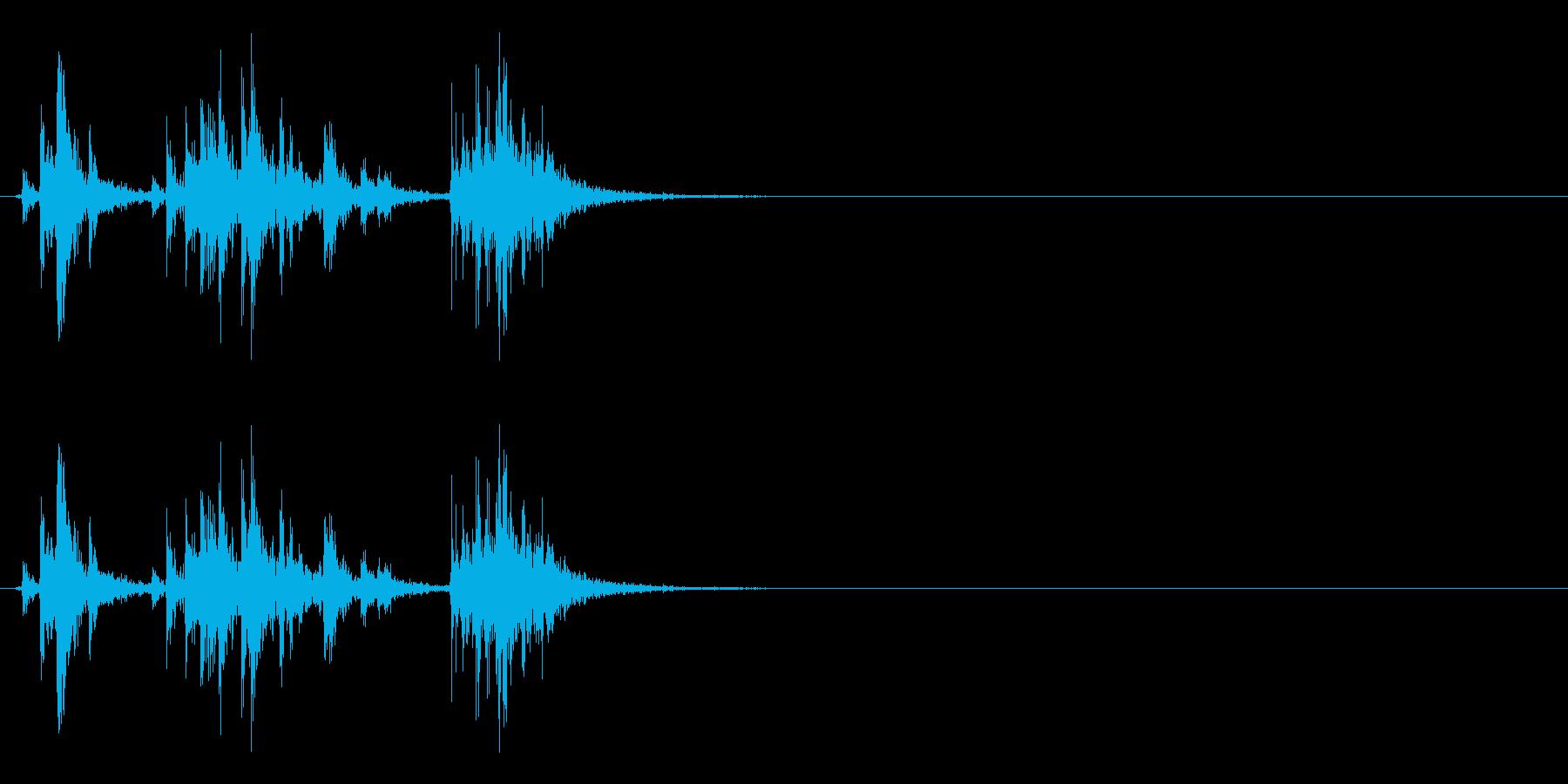 アタッシュケースの留め具を開ける音の再生済みの波形
