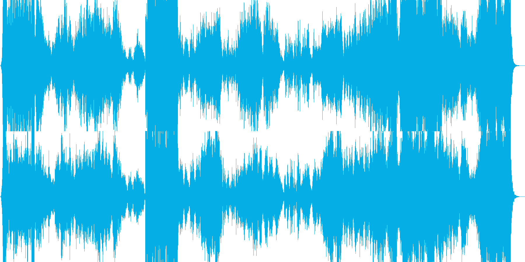 中華風の壮大なオーケストラの再生済みの波形