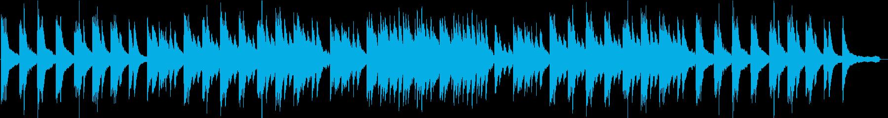 ピアノ・琴・ストリングスの美しい和風曲の再生済みの波形