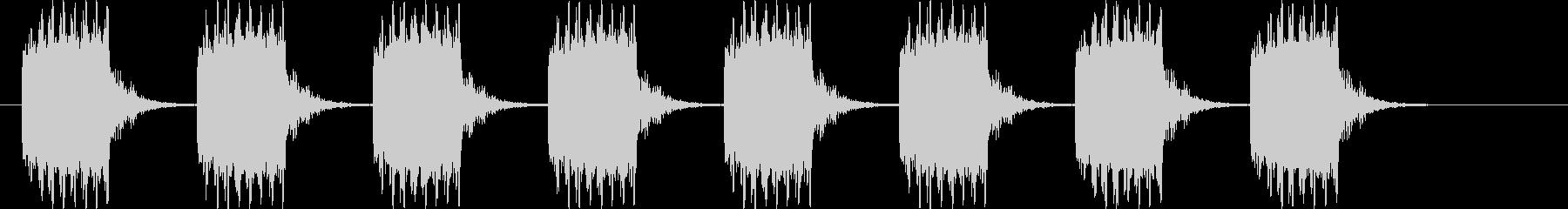 ブザー音ミドル_リバーブ付きの未再生の波形
