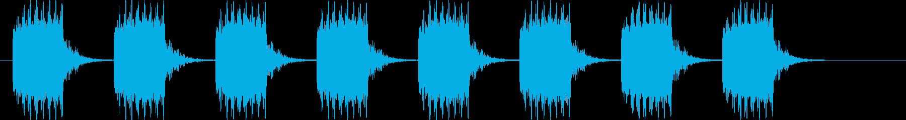 ブザー音ミドル_リバーブ付きの再生済みの波形