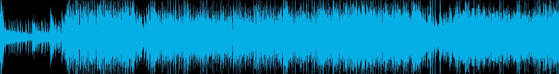 疾走感のある和楽器による楽曲の再生済みの波形