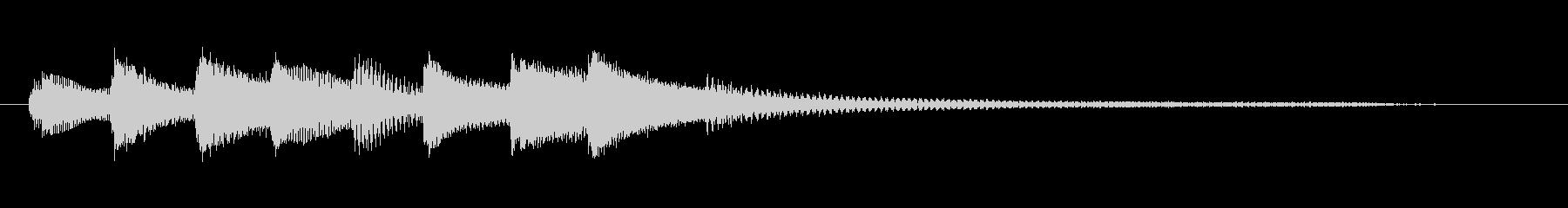 チャプター・場面転換等にピアノジングルHの未再生の波形