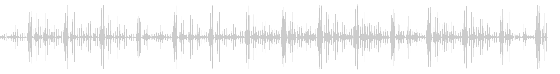キックなし、114 BPMの未再生の波形