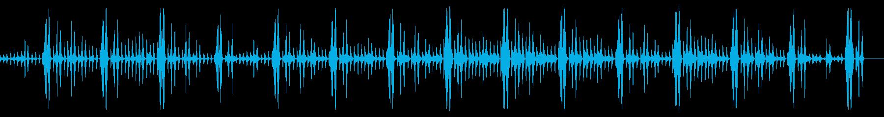 キックなし、114 BPMの再生済みの波形