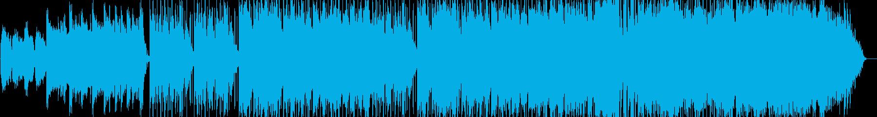 クリスマスをイメージしたインストBGMの再生済みの波形