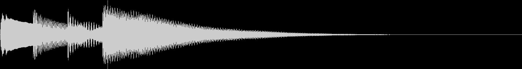 ピンポンパンポン合図チャイムの未再生の波形