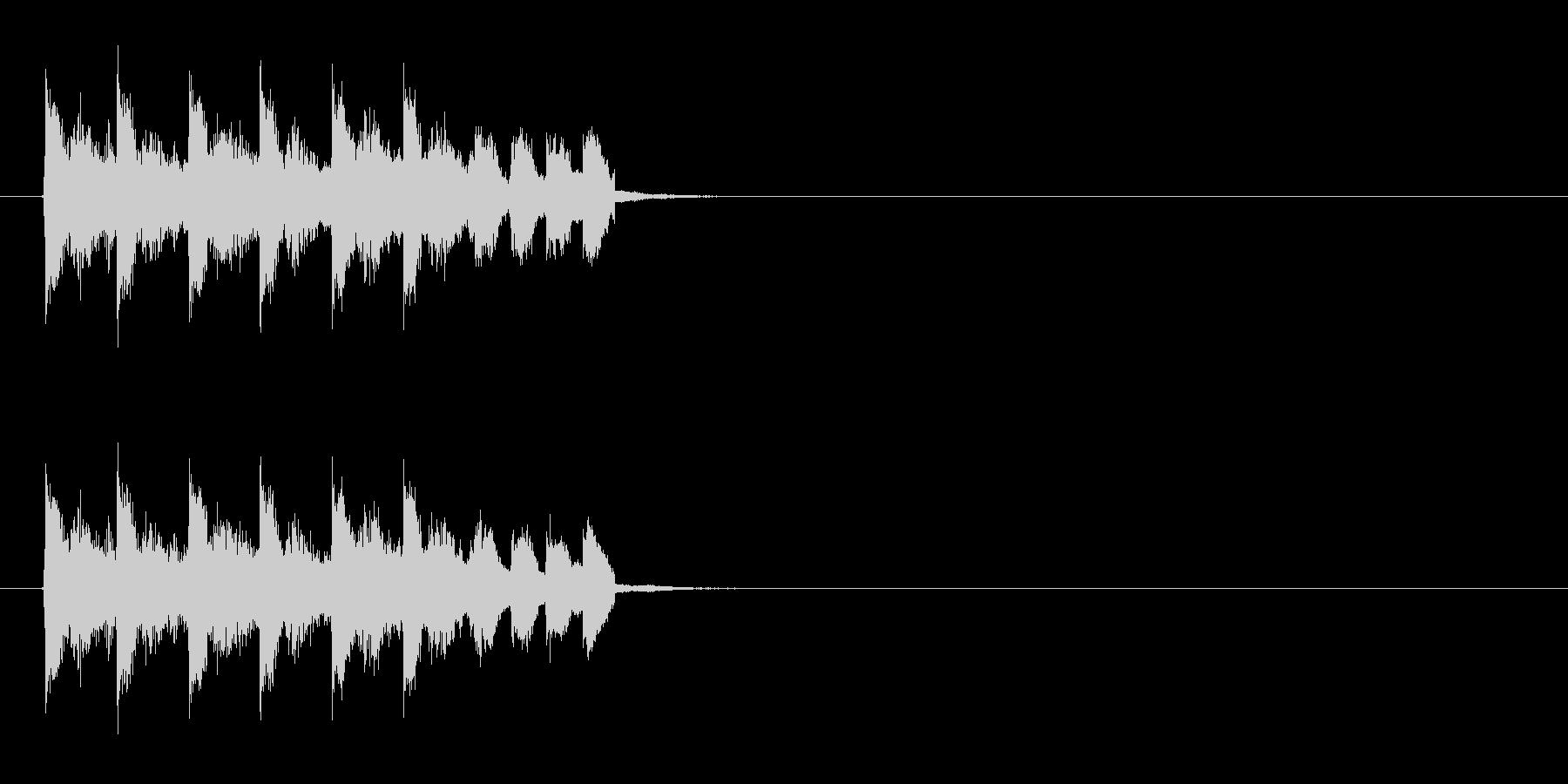 疾走感のある不協和音の未再生の波形