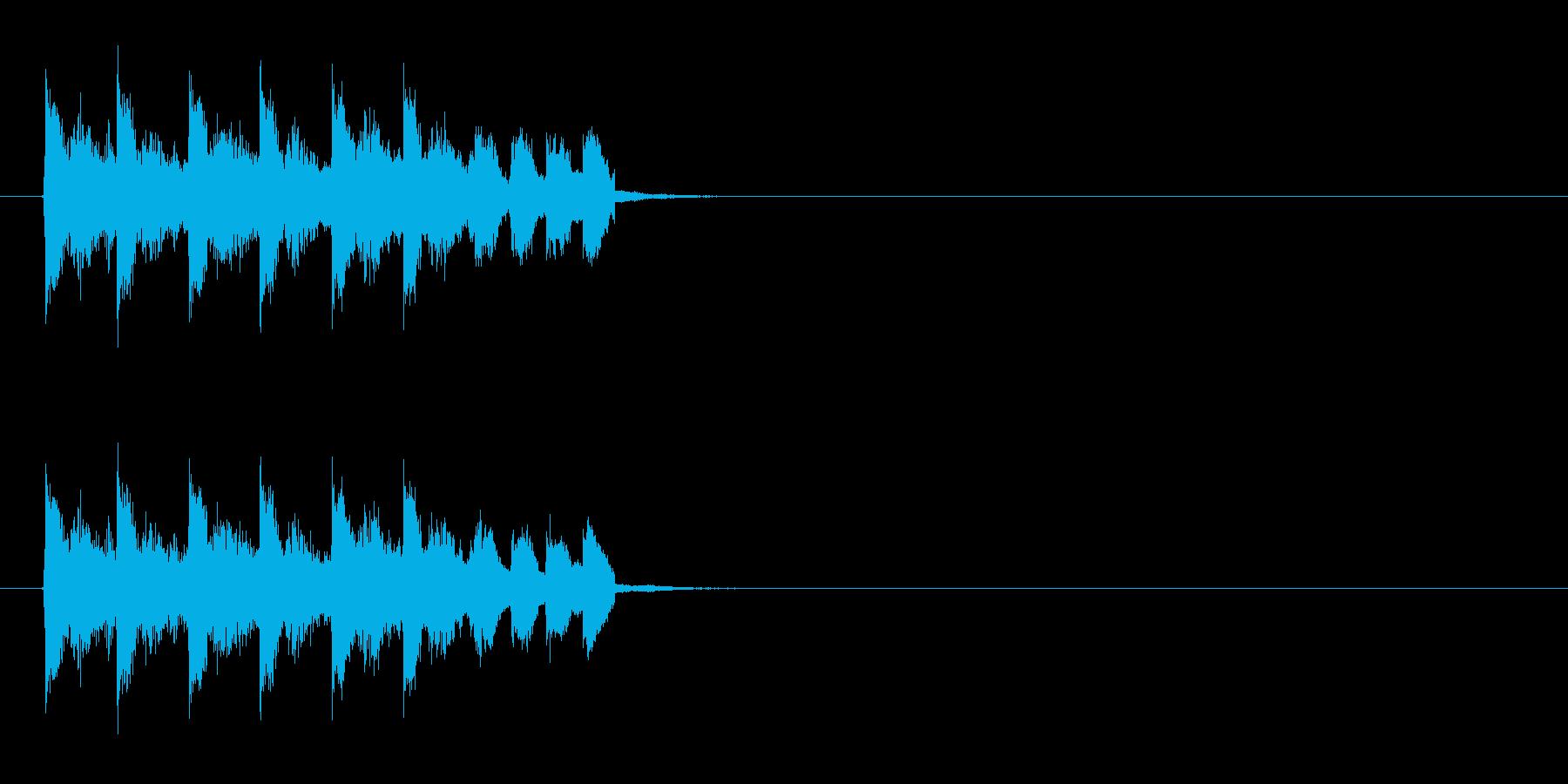 疾走感のある不協和音の再生済みの波形