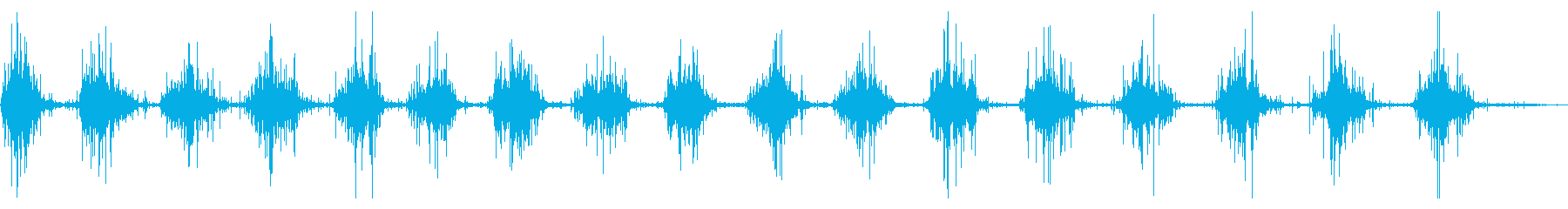 ファイバーグラスカヌー:シングルパ...の再生済みの波形