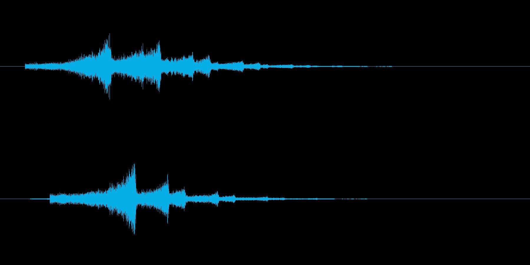 シューンという不思議なロゴの再生済みの波形