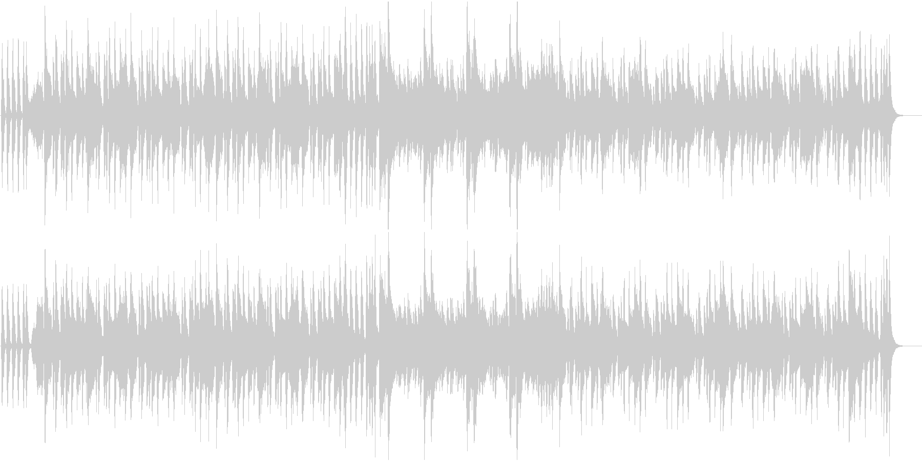 ブラスの骨太ロック調なファンクジングルの未再生の波形