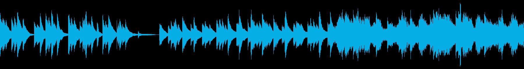 思い巡る休息のピアノの再生済みの波形