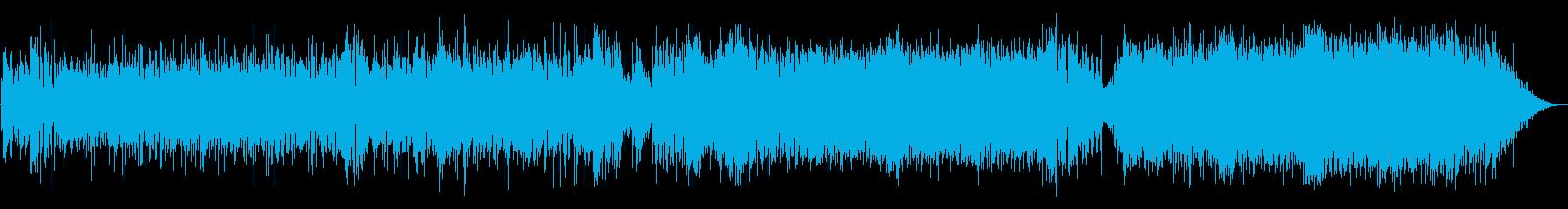 ブラスとエレキギターが歌うハッピーロックの再生済みの波形