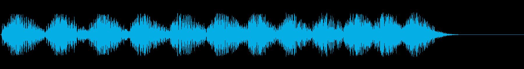 低鼓動のハートビートの再生済みの波形