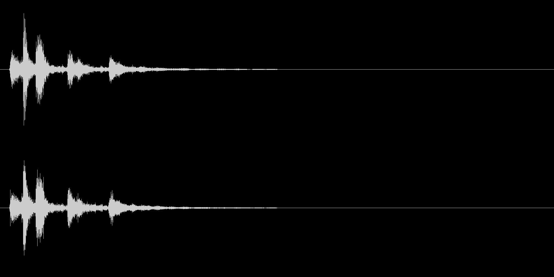 シンセ風なアイテム入手音の未再生の波形