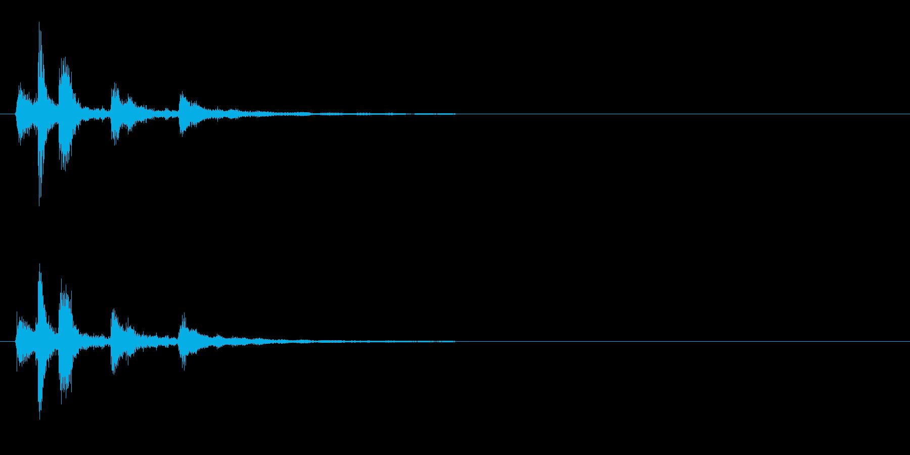 シンセ風なアイテム入手音の再生済みの波形