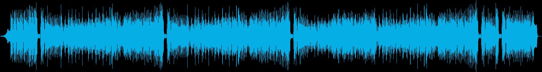 ピアノメロディーの明るいシャッフルマーチの再生済みの波形