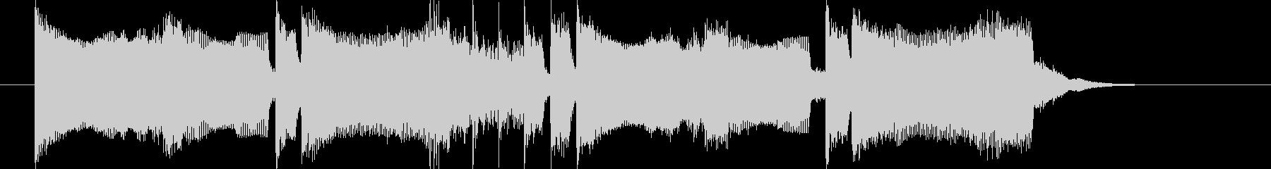 シンセとドラムの音で構成された短いSEの未再生の波形