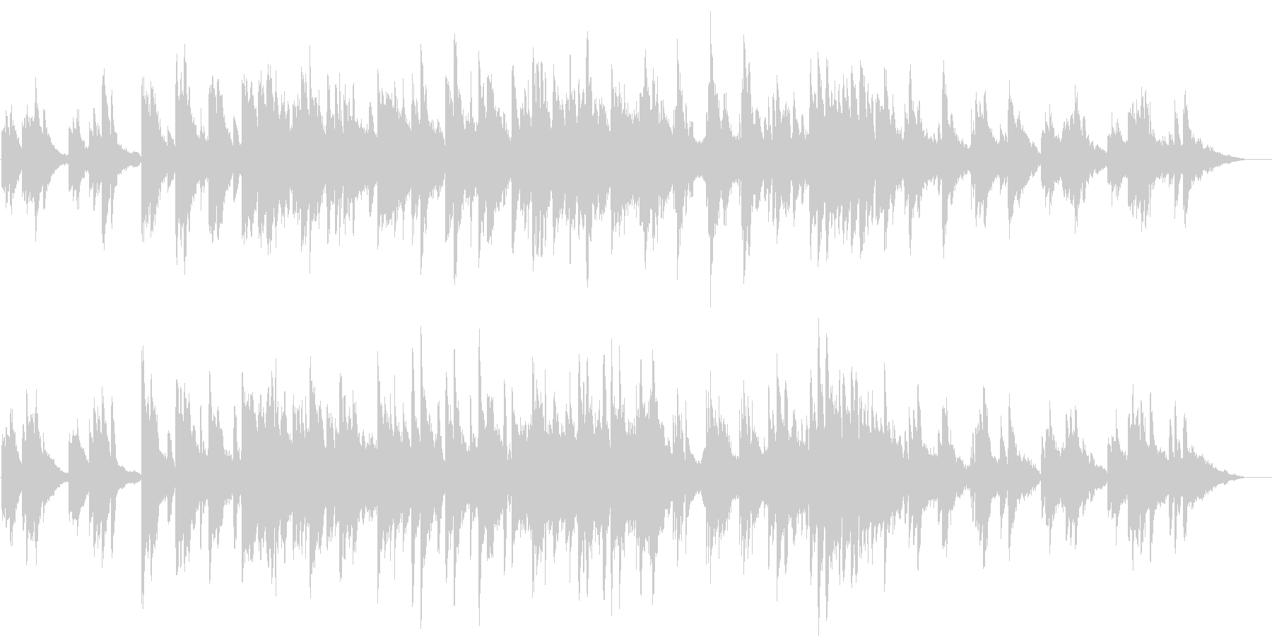 ピアノとストリングスの優しい曲03の未再生の波形