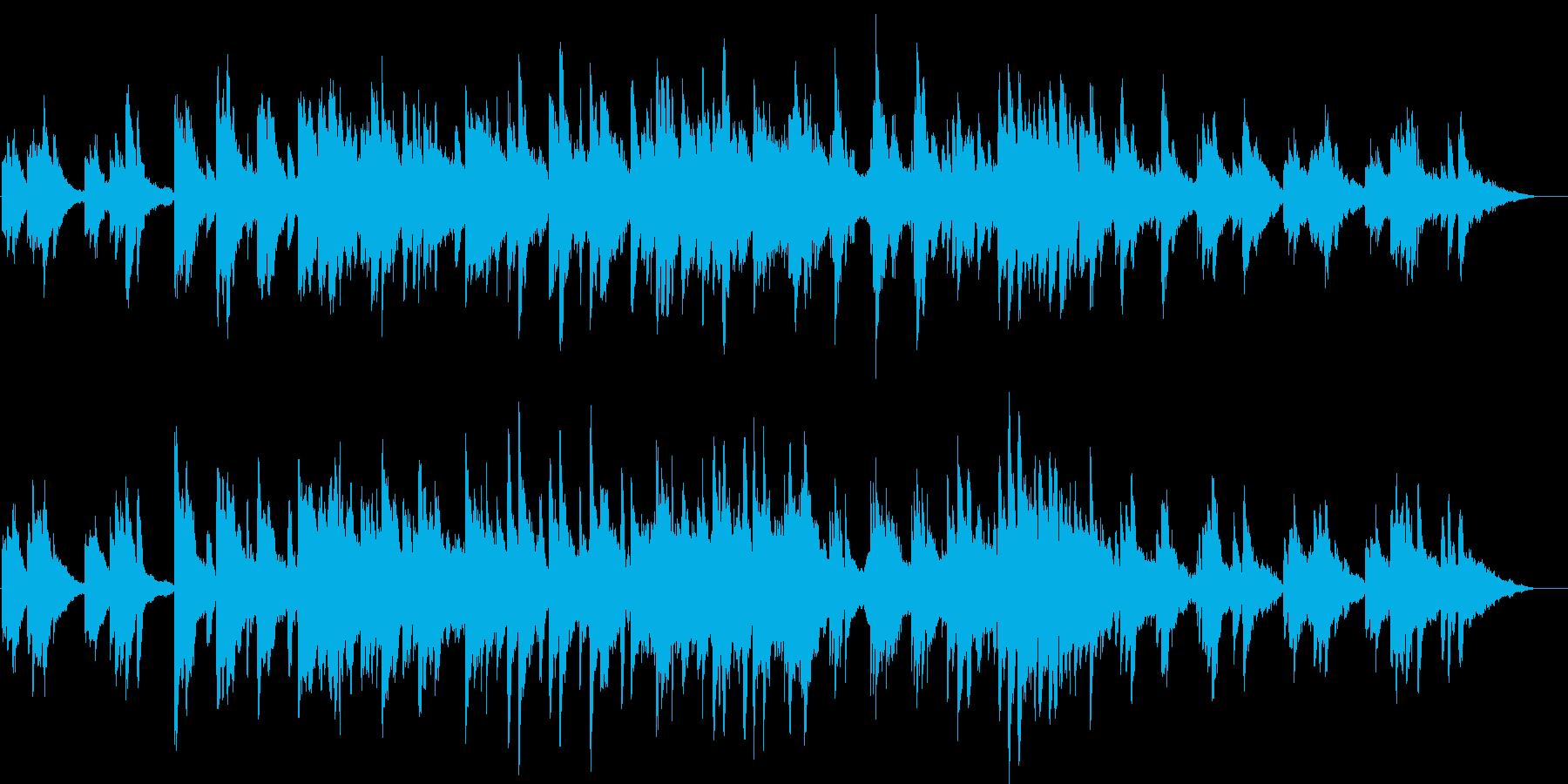 ピアノとストリングスの優しい曲03の再生済みの波形