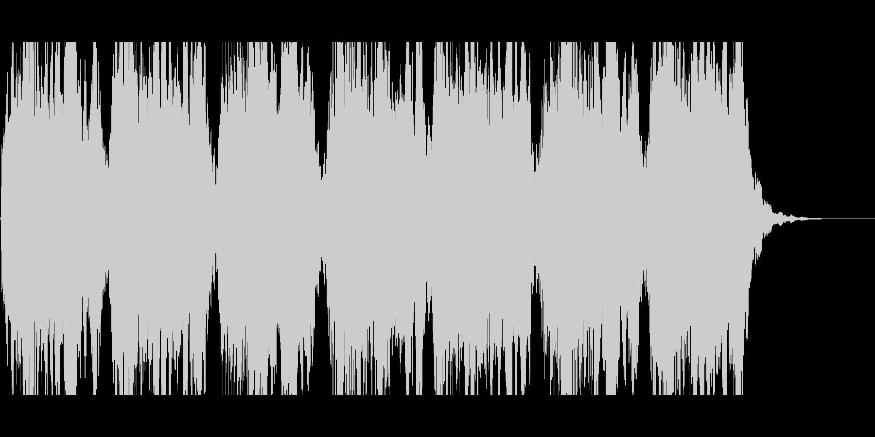 (ウー)サイレンの音の未再生の波形