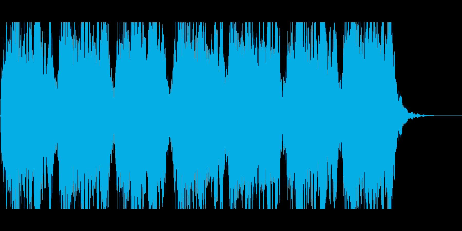 (ウー)サイレンの音の再生済みの波形
