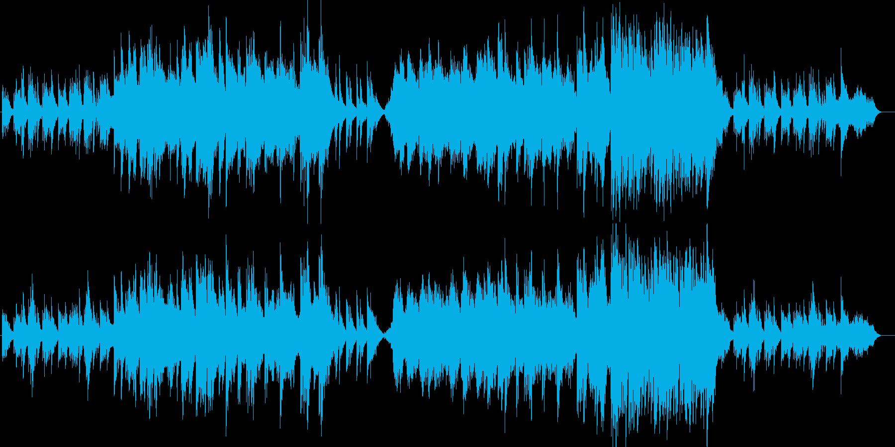 美しいピアノメロディーの再生済みの波形