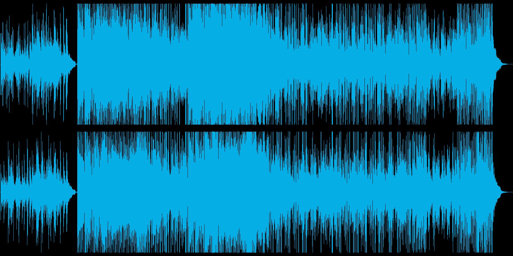 ピアノ,笛,ストリングス+エレクトロニカの再生済みの波形