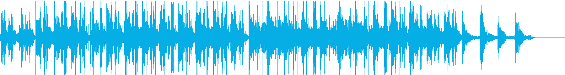 チルなイメージのゆったりなインスト楽曲の再生済みの波形