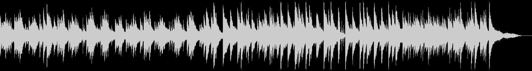 優しいピアノのポップスの未再生の波形