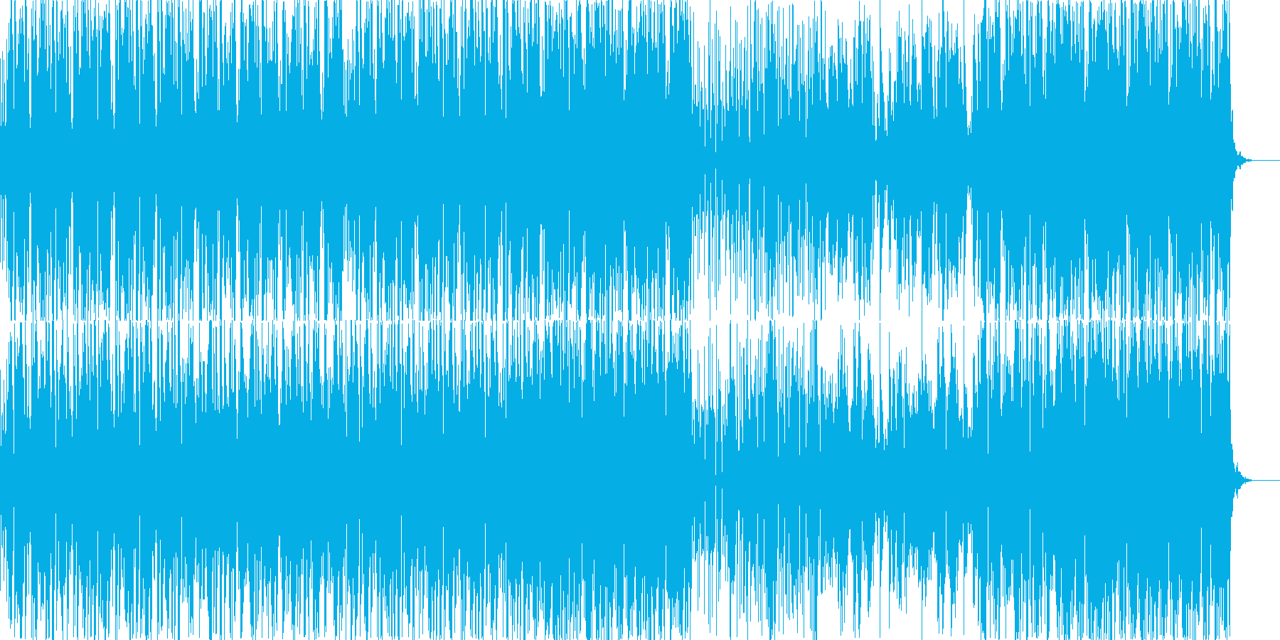 浮遊感のあるドラムンベース風テクノの再生済みの波形