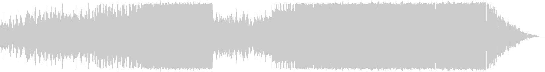 時代が劇的に変化していくイメージのEDMの未再生の波形