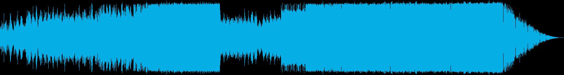 時代が劇的に変化していくイメージのEDMの再生済みの波形