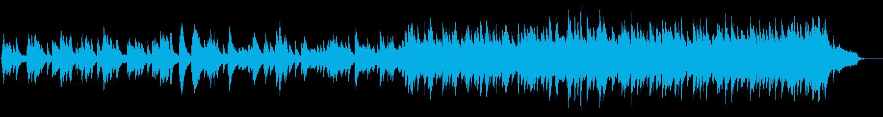 さみしくて切ないピアノ曲の再生済みの波形