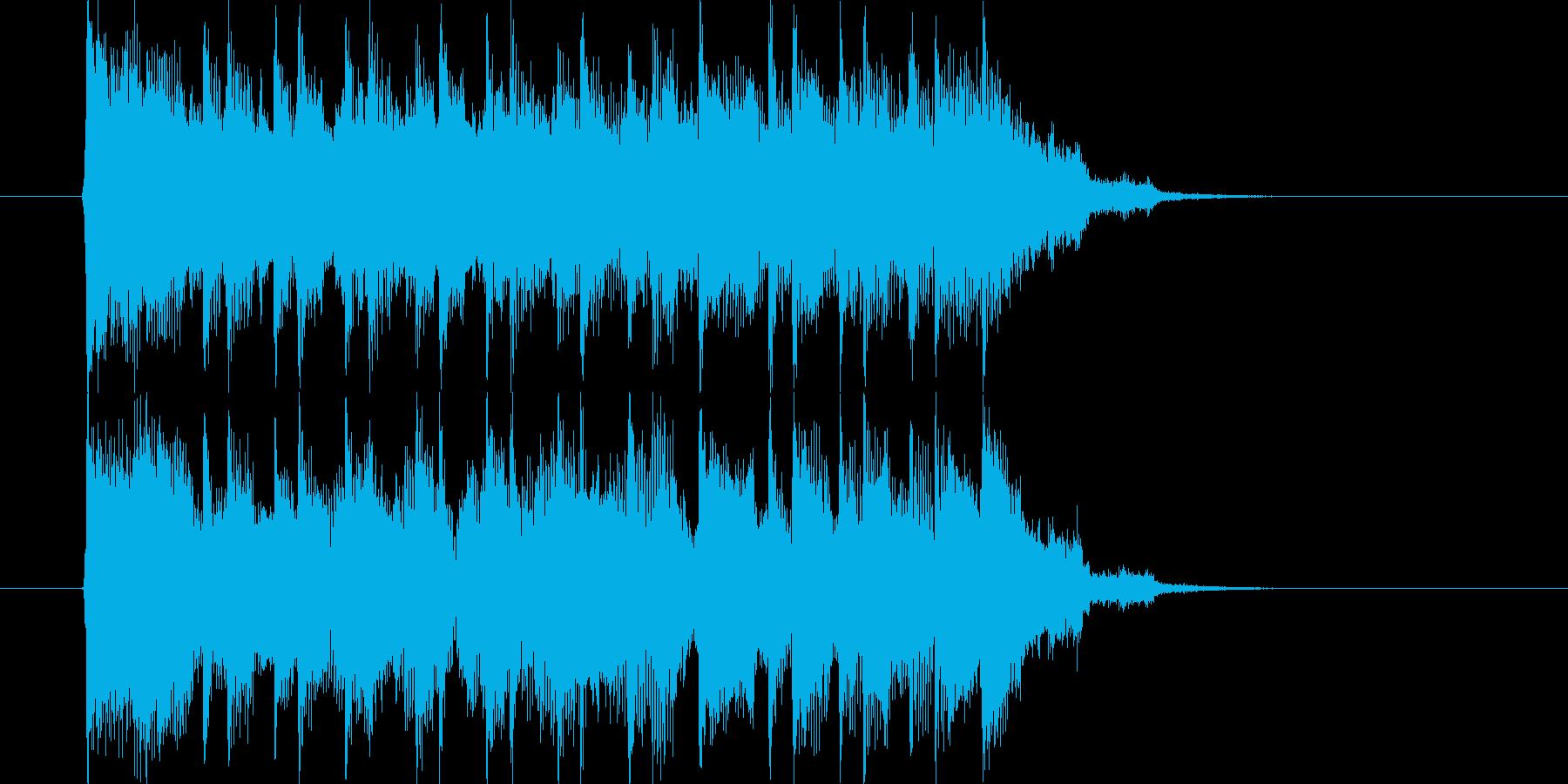 爽やかに締めくくるエレキギターの再生済みの波形