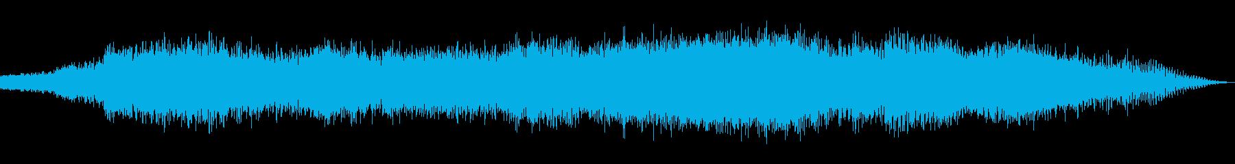 ホラー映像にぴったりの怖い音楽の再生済みの波形