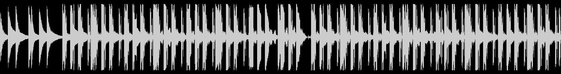 低音が気持ち良いローファイなBGMの未再生の波形