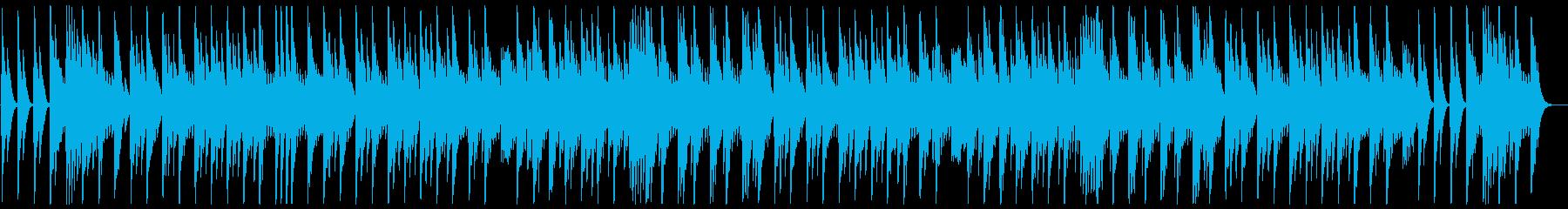 ゆっくり優しい眠たくなるオルゴールの曲の再生済みの波形