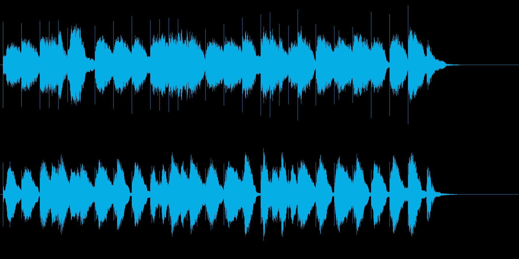 猫達が歌うクリスマス定番曲ロゴ♪の再生済みの波形