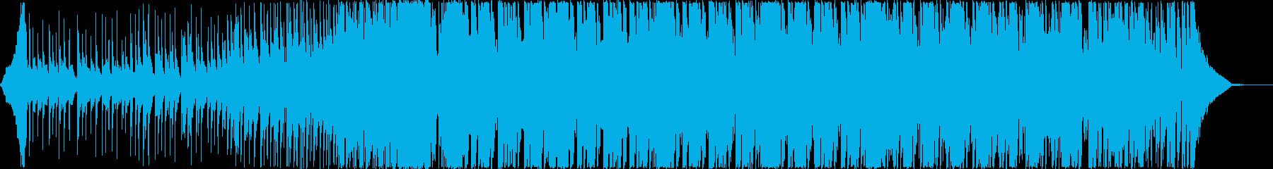 軽快な和風エレクトロダンス三味線尺八箏Bの再生済みの波形