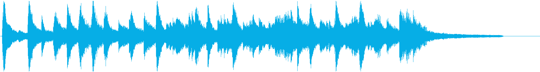 安らぎ、安心、静かなピアノ40秒。CMにの再生済みの波形
