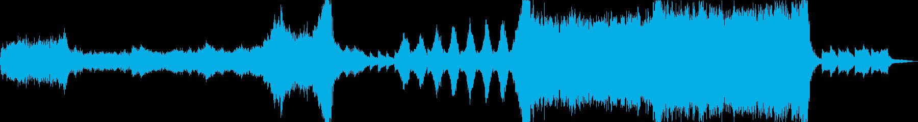 重いエピックオーケストラと古代の墓の再生済みの波形