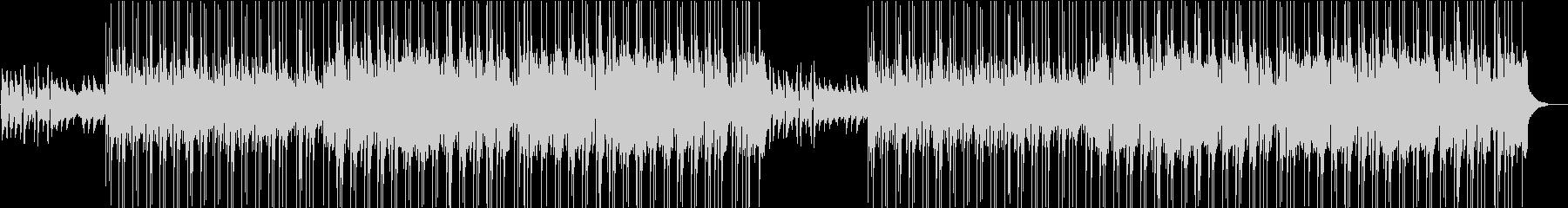 ピアノとギター中心のほのぼのボサノバ風の未再生の波形