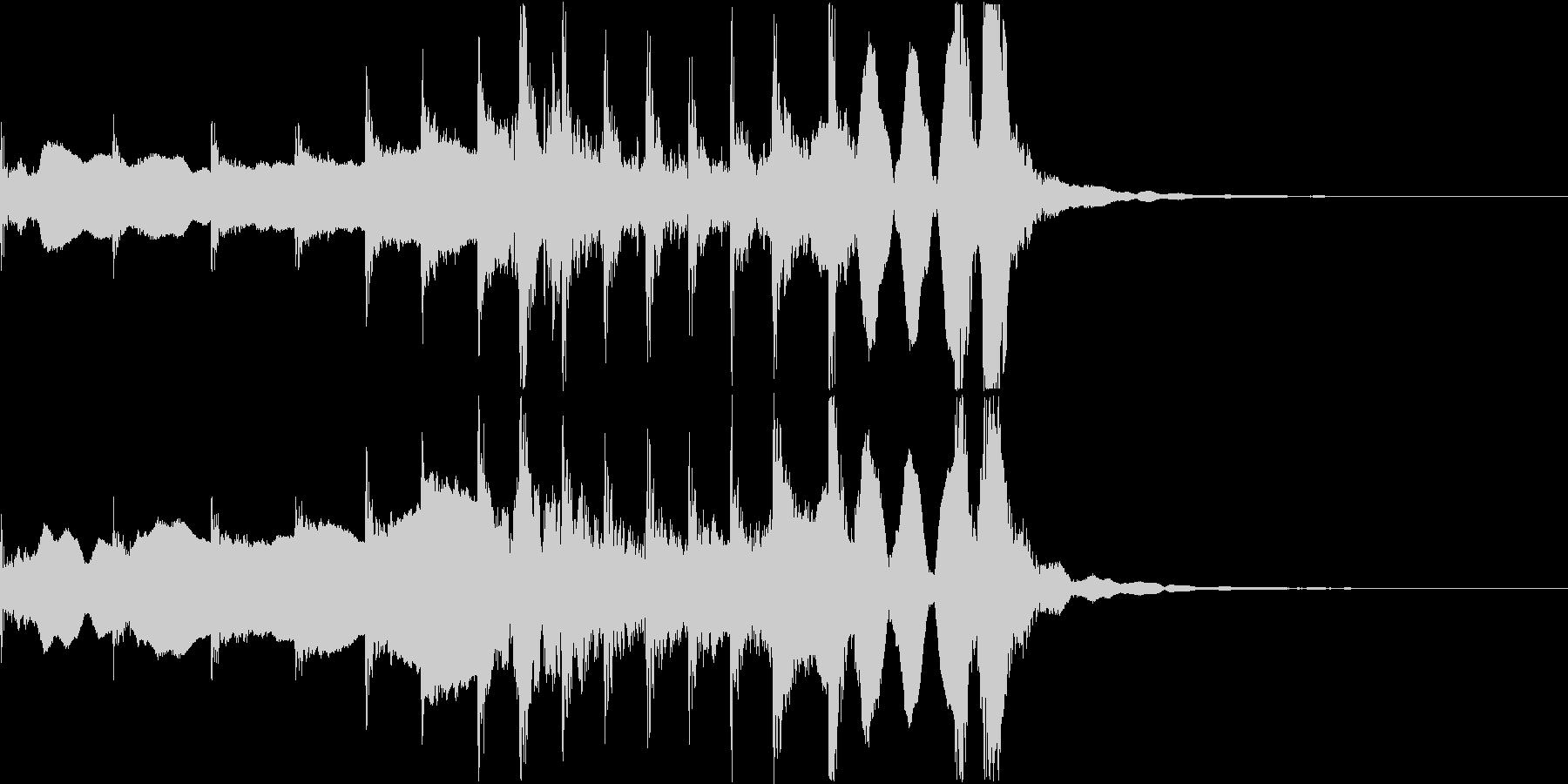 和風ジングル7秒(尺八、拍子木、三味線)の未再生の波形