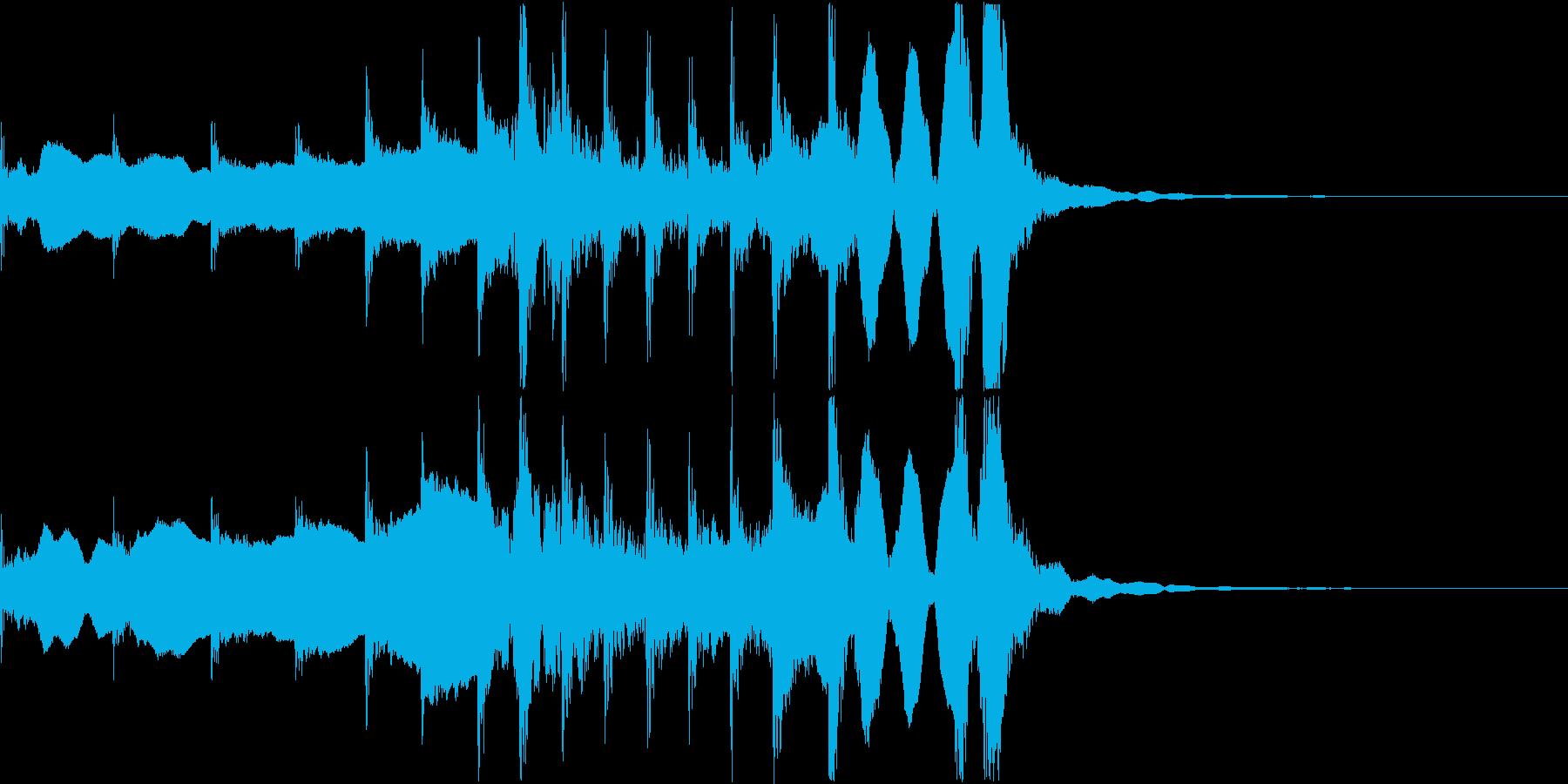 和風ジングル7秒(尺八、拍子木、三味線)の再生済みの波形