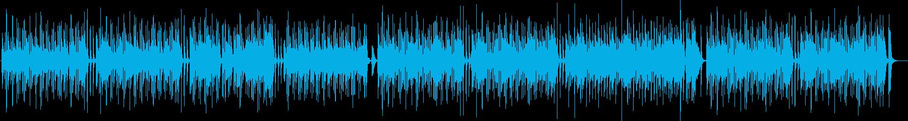 バスクラリネットのとぼけた感じの曲の再生済みの波形