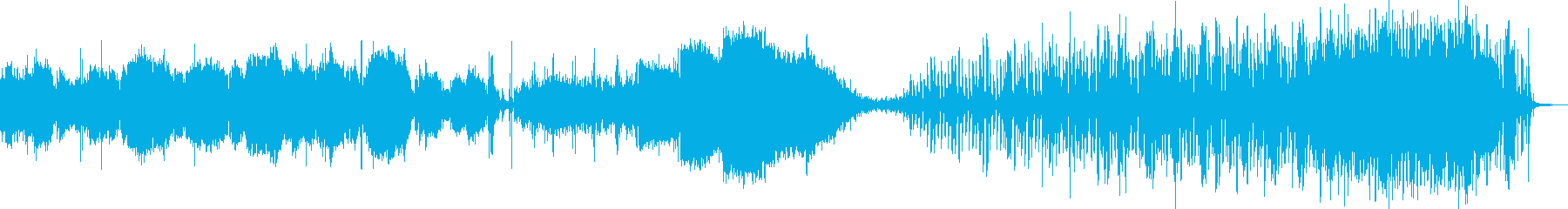 宇宙を彷徨うイメージの曲の再生済みの波形