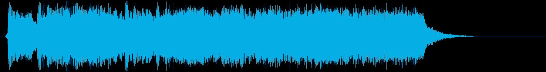 明るい希望のあるオーケストラジングルの再生済みの波形